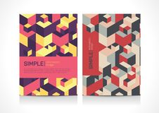 Multipurpose Flyer template layout design with Geometric Element. Creative modern  illustration Royalty Free Stock Photography