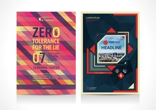 Multipurpose Flyer template layout design with Geometric Element. Creative modern vector illustration Stock Photos