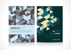 Multipurpose Flyer template layout design with Geometric Element. Creative modern vector illustration Royalty Free Stock Photos