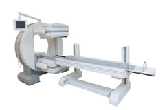 Multipurpose gamma camera. Equipment of radiation therapy in hospital royalty free stock photography