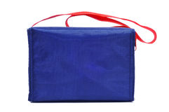 Multipurpose handled bag. A blue multipurpose handled bag on a white background Stock Photography
