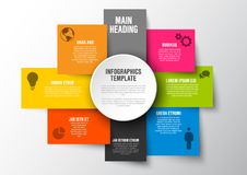 Multipurpose Infographic template Royalty Free Stock Photo