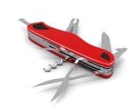Multipurpose knife  on white background. 3d illustration Stock Photo
