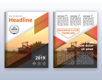 Multipurpose modern corporate business flyer layout design. Suitable for flyer, brochure, book cover and annual report. 8.5x11 inches document layout template vector illustration