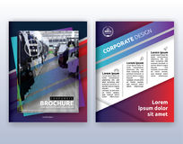Multipurpose modern corporate business flyer layout design. Suitable for flyer, brochure, book cover and annual report. 8.5x11 inches document layout template stock illustration