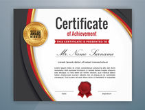 Multipurpose Modern Professional Certificate. Template Design for Print. Corporate business color scheme. Vector illustration Royalty Free Stock Photos