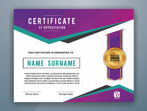 Multipurpose Modern Professional Certificate Template Royalty Free Stock Photos