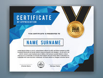 Multipurpose Modern Professional Certificate Template. Design for Print. Vector illustration Stock Image