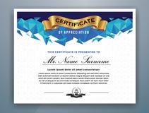 Multipurpose Modern Professional Certificate Template. Design for Print. Vector illustration Stock Photos