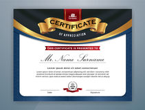 Multipurpose Modern Professional Certificate. Template Design for Print. Vector illustration Royalty Free Stock Photography