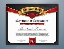 Multipurpose Modern Professional Certificate. Template Design for Print. Vector illustration Royalty Free Stock Photo
