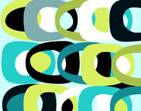 Multipurpose RETRO background. Vibrant 70s inspired wallpaper with many uses stock illustration