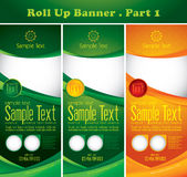 Multipurpose roll up banner. Series. Suitable for your display ad (promotion) or others Stock Photo