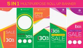 Multipurpose roll up banner stock illustration