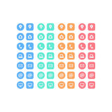 Multipurpose set of web icons for business, finance and communication. vector illustration