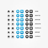 Multipurpose set of web icons for business, finance and communication. royalty free illustration