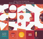 Multipurpose social media kit booster. Available in 20 alternate design, suitable for your promotion Royalty Free Stock Images