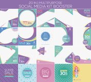 Multipurpose social media kit booster. Available in 20 alternate design, suitable for your promotion Stock Photo