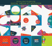 Multipurpose social media kit booster. Available in 20 alternate design, suitable for your promotion Stock Image