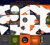Multipurpose social media kit booster. Available in 20 alternate design, suitable for your promotion Royalty Free Stock Image