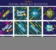 Multipurpose social media kit booster Stock Image