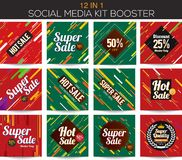 Multipurpose social media kit booster Royalty Free Stock Image