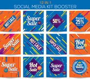 Multipurpose social media kit booster Stock Photos