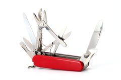 Free Multipurpose Swiss Army Knife On White Royalty Free Stock Image - 34210036