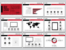 Multipurpose template for presentation slides with graphs and charts.  Stock Photo