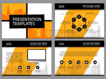 Multipurpose template for presentation slides with graphs and charts. Perfect for your business report or personal use Royalty Free Stock Photo