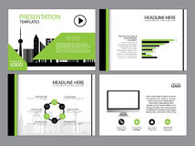 Multipurpose template for presentation slides with graphs and charts. Perfect for your business report or personal use Stock Photography