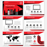 Multipurpose template for presentation slides with graphs and charts. Perfect for your business report or personal use Stock Photo