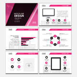 Multipurpose template for presentation slides with graphs and charts. Perfect for your business report or personal use Stock Image