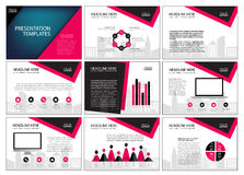 Multipurpose template for presentation slides with graphs and charts. Perfect for your business report or personal use Royalty Free Stock Images