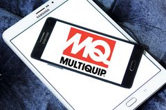 Multiquip company logo. Logo of Multiquip company on samsung mobile. Multiquip is one of the largest, most diversified manufacturers and suppliers of world class Royalty Free Stock Photos