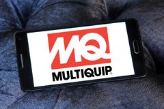 Multiquip company logo. Logo of Multiquip company on samsung mobile. Multiquip is one of the largest, most diversified manufacturers and suppliers of world class Stock Image
