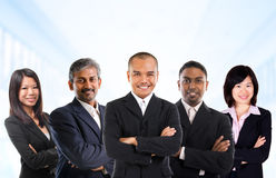 Multiracial азиатская команда дела Стоковое Изображение RF