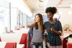 Multiracial женщины в обедающем Стоковые Изображения RF