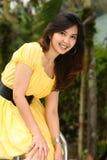 multiracial attraktiv flicka royaltyfria bilder