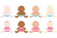Multiracial Babies Stock Image