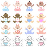 Multiracial babies Royalty Free Stock Photo