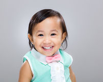 Multiracial baby girl smile Royalty Free Stock Photography