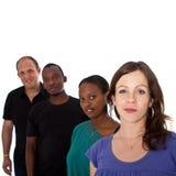 multiracial barn för grupp Arkivbild