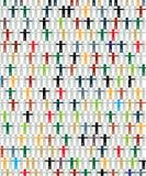 multiracial begreppsdiagram Arkivfoton