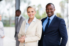 Multiracial business partners Stock Image