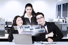 Multiracial business team looks success Stock Images