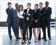 Multiracial business team people group smiling at camera. Royalty Free Stock Photography