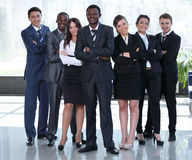 Multiracial business team people group smiling at camera. Stock Photography