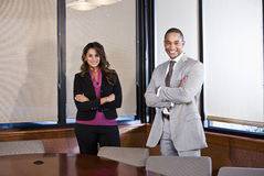 Multiracial businesspeople in office boardroom Stock Photography