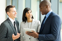 Multiracial businesspeople working Royalty Free Stock Photography
